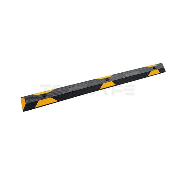 Topes de Rueda de Estacionamiento de Caucho Negros / Amarillos de 1650 mm