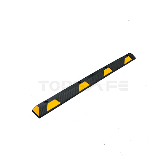 Topes de Rueda de Estacionamiento de Caucho Negros / Amarillos de 1830 mm